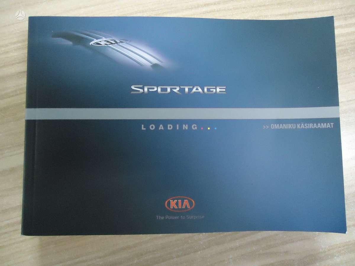 Kia Sportage. Automobilio aprašymo knygelės- estiškai