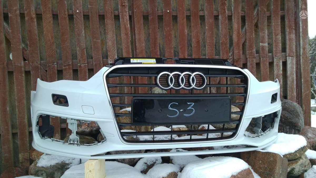 Audi S3. Priekinis buferis,grotelės,s-sparnai, pr.kapotas, pr.ž