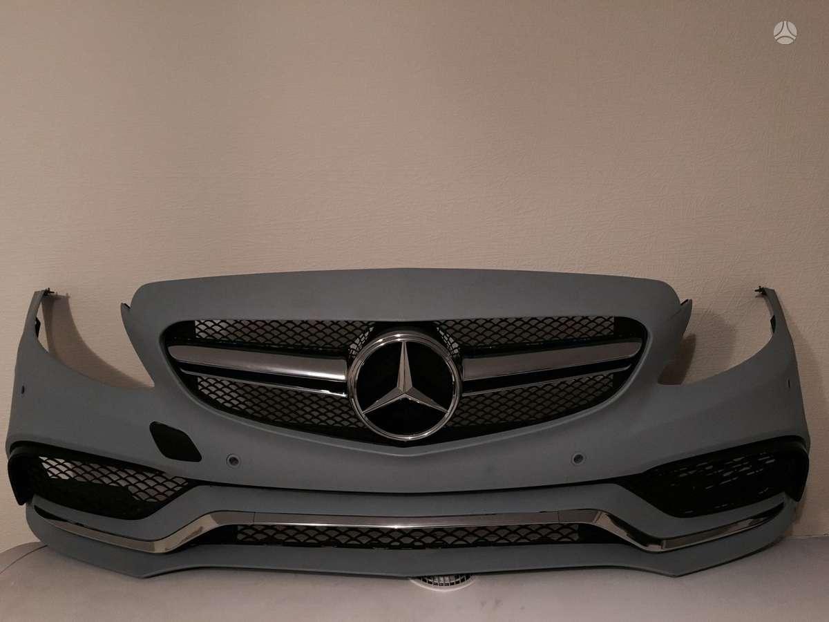 Mercedes-Benz C klasė bamperiai, žibintai, apdailos grotelės
