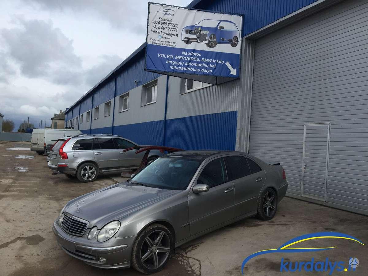 Mercedes-Benz E klasė. Turime ir daug kitų automobilių dalimis