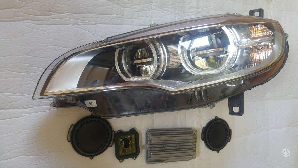 BMW X6. Priekiniai žibintai led- adaptive bmw su blokeliais, pr.ž