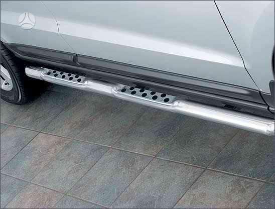 Hyundai Santa Fe. Slenksčiai 60 mm su guminėmis pakopomis (taš