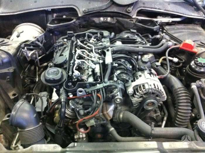 BMW 5 serija dalimis. Variklio dalys. varikliai n47, m57, m57n