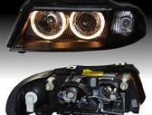 Audi A4. Tuning dalys. 95-02m. priekiniai zibintai su angel