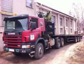 Scania P124 420 6x6, medienvežiai (miškavežiai)