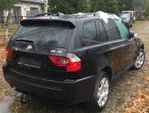 BMW X3 dalimis. Bmw e83 x3 3.0d 150kw spalva: black sapphire