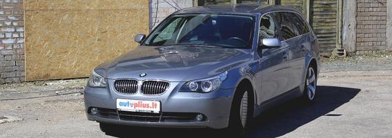 5 serijos BMW (E60) - gardus pasiūlymas patogumą mėgstantiems vairuotojams