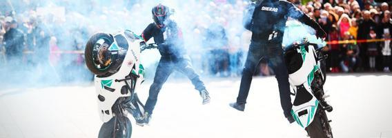 Šeštadienį Utenoje vyksiančioje Policijos šventėje planuojamas motoakrobatų pasirodymas