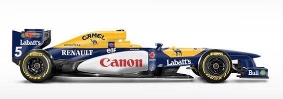 F1 bolidai klasikinių komandų spalvomis