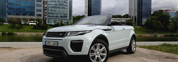 """""""Land Rover Range Rover Evoque Convertible"""" – jungtis tarp dviejų skirtingų pasaulių"""